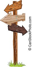 Signpost - Illustration of wooden signpost