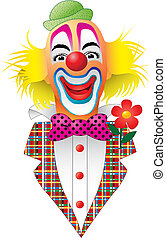 Clown - A Circus Clown  with Flower