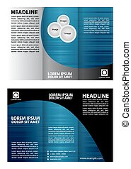 Vector blue brochure template design