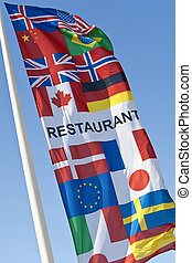 Generic Multi National Restaurant Flag - A generic...