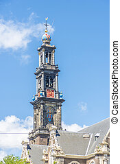 Western church in Amsterdam, Netherlands - Westerkerk...