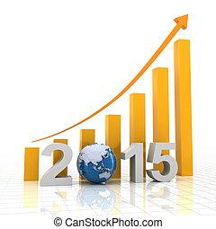 2015 global growth, 3d render