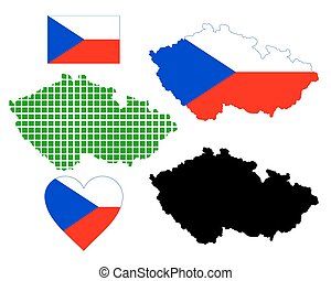 map of the Czech Republic - Czech Republic map of different...