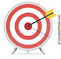 Target with an Arrow in the Center. Stock Vector...