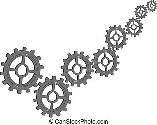 Design of gears of different diameters - Abstract vector...