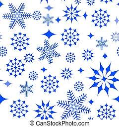 Snowflakes on white background