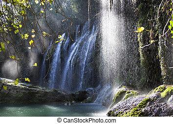 Waterfall Magic - The magic atmosphere created by Kursunlu...
