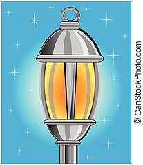 Street lamp - Vector illustration of the street lamp in the...