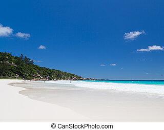 long beach - Coral white clean sand on a long beach,...