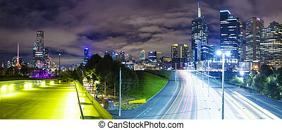 Panoramic view of a modern city - Panoramic view of...