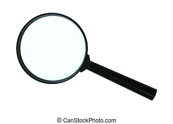 Magnifying glass. Close-up. Isolated on white background.