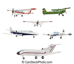 airplanes illustration - vector