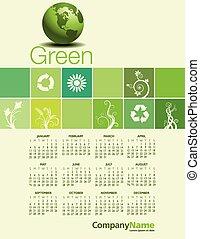 Green Environmental Calendar