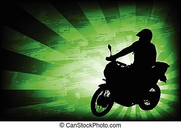motorcyclist-abstract background - motorcyclist on the...