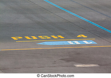 Apron - Signs for better identification on apron of airport