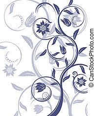 Floral background. - Abstract floral background.