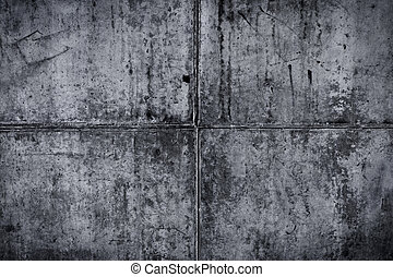 Vintage grey painted plaster concrete wall background. Dark edge