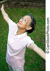 senior woman exercise