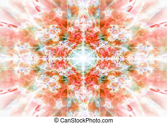 Orange kaleidoscope background pattern