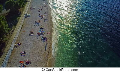 Primosten beaches aerial shot - Primosten is one of the main...