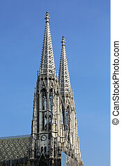 Votive Church Vienna Austria - the belltower of the Votive...
