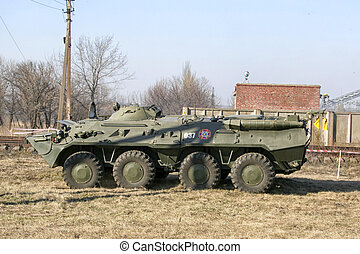 old Soviet Armored troop-carrier - An old Soviet Armored...