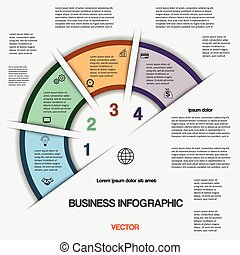Business infographic for success project and other Your variant, illustration template with text areas on four positions