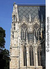 Votive Church Vienna Austria - facade details of the Votive...
