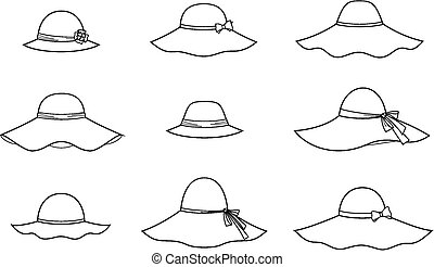 Hat - Vector illustration of womens hat