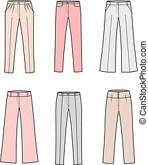 Pants - Vector illustration of women's business pants