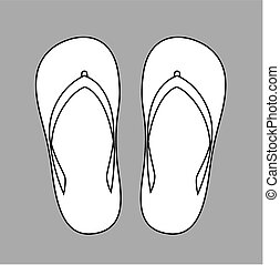 Slippers - Vector illustration of beach slippers