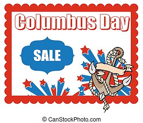 Columbus Day Sale Banner Graphic Vector Background