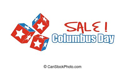 Gaming Dice Columbus Day Banner - Columbus Day Sale Gaming...