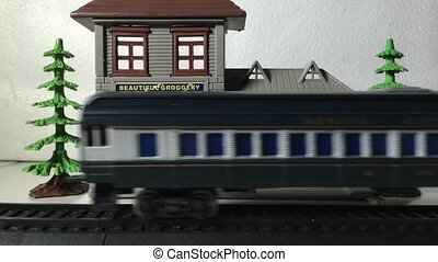 train toy, time lapse