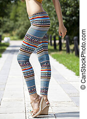 Body part of stylish leggings