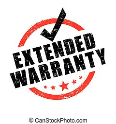 Stamp of extended warranty sign vector