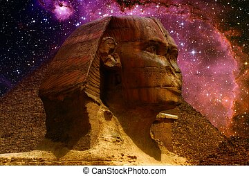Sphinx and small Magellanic Cloud Elements of this image...