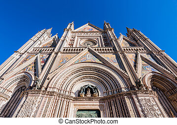 Orvieto Cathedral - The magnificent facade of the Orvieto...