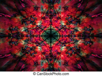 Red and black kaleidoscope pattern - Dark red and black...