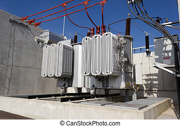 Electrical power transformer - Air cooled electrical power...