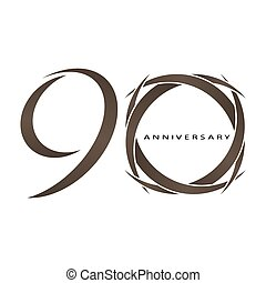 90 years anniversary vector - The abstract of 90 years...