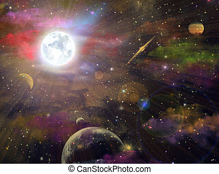 Night sky and space fantasy
