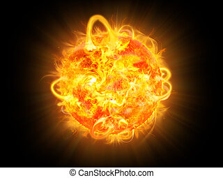 Sun burning surface - Sun burning - surface solar explosion...