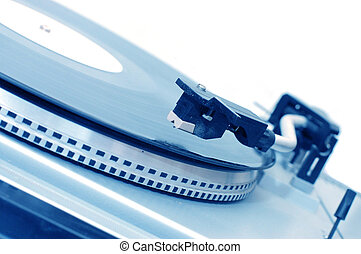 Vinyl player isolated on white background
