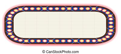 Wide Ad Board - A blank movie theatre or theatre marquee.