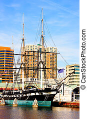 Baltimore, USA - January 31, 2014: USS Constellation in...