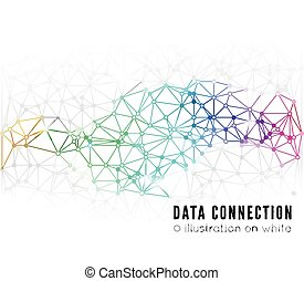 Abstract network connection Technology background on white