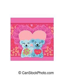 Cute Teddy bears couple