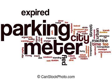 Parking meter word cloud