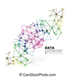 Abstract network connection backgro - Abstract network...